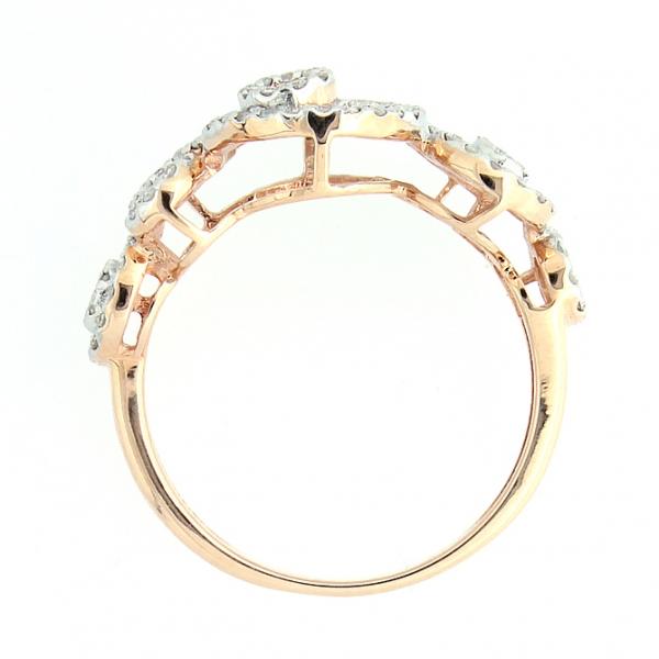 Ювелирное кольцо из красного золота 585 пробы с бриллиантами RD-6648
