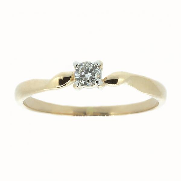Ювелирное кольцо из красного золота 585 пробы с бриллиантом RD-6661