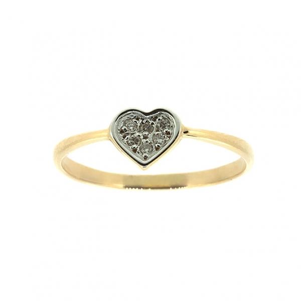Ювелирное кольцо из красного золота 585 пробы с бриллиантами RD-6664