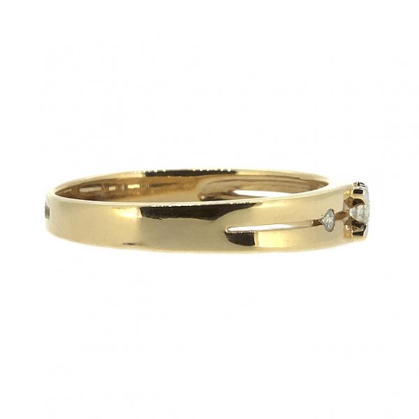 Ювелирное кольцо из красного золота 585 пробы с бриллиантами RD-6671