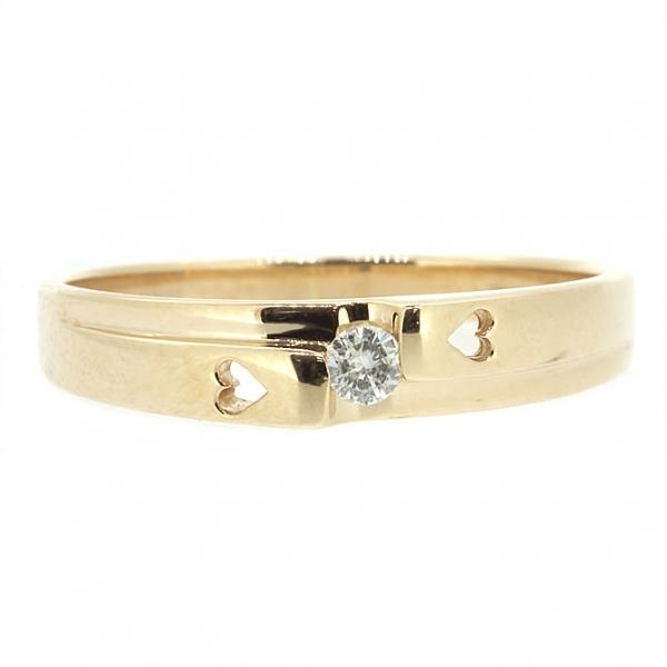 Ювелирное кольцо из красного золота 585 пробы с бриллиантом RD-6673