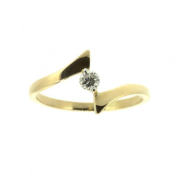 Ювелирное кольцо из красного золота 585 пробы с бриллиантом RD-6674