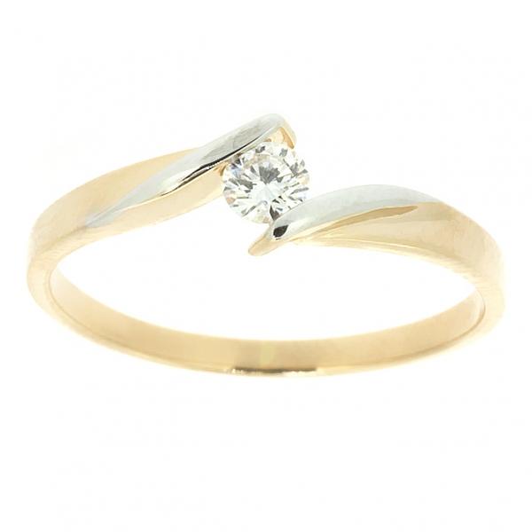 Ювелирное кольцо из красного золота 585 пробы с бриллиантом RD-6676