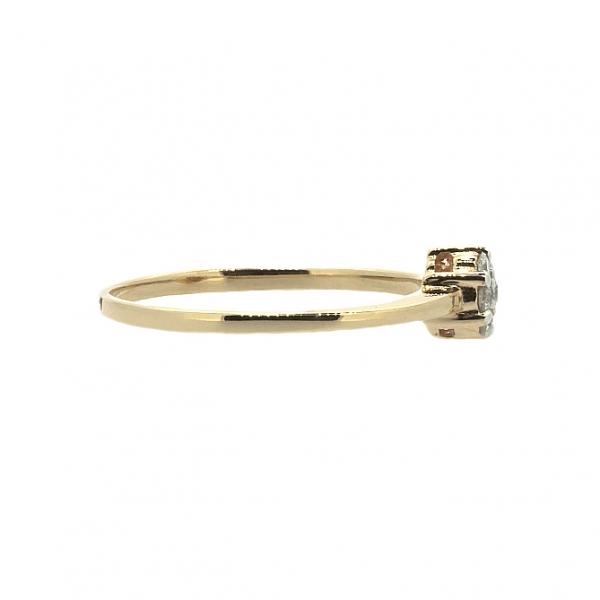 Ювелирное кольцо из красного золота 585 пробы с бриллиантами RD-6693