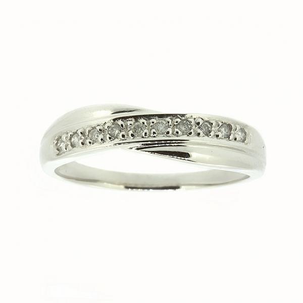 Ювелирное кольцо из белого золота 585 пробы с бриллиантами RD-9057w