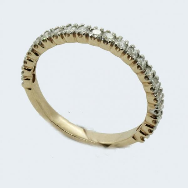 Ювелирное кольцо из красного золота 585 пробы с бриллиантами RD-15011