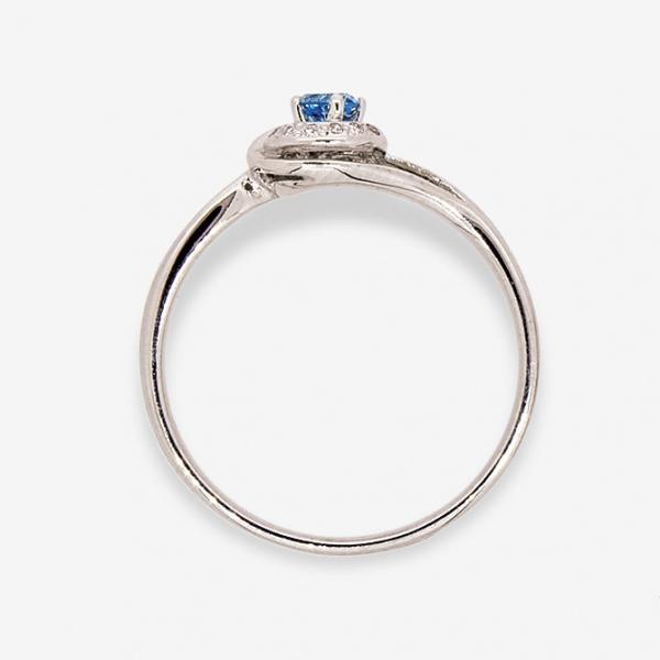 Ювелирное кольцо из белого золота 585 пробы с топазом и бриллиантами RT-6681w