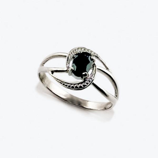 Ювелирное кольцо из белого золота 585 пробы с сапфиром RS-6690w