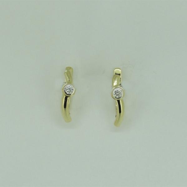 Ювелирные серьги из жёлтого золота 585 пробы с бриллиантами ED-6642y