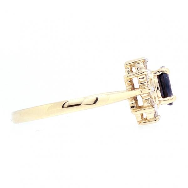 Ювелирное кольцо из жёлтого золота 585 пробы с сапфиром и бриллиантами RS-4235y
