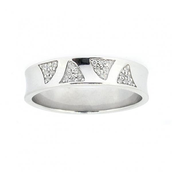 Ювелирное кольцо из белого золота 585 пробы с бриллиантами RD-6737w