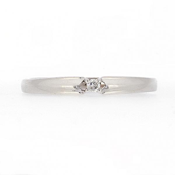 Ювелирное кольцо из белого золота 585 пробы с бриллиантом RD-3544w