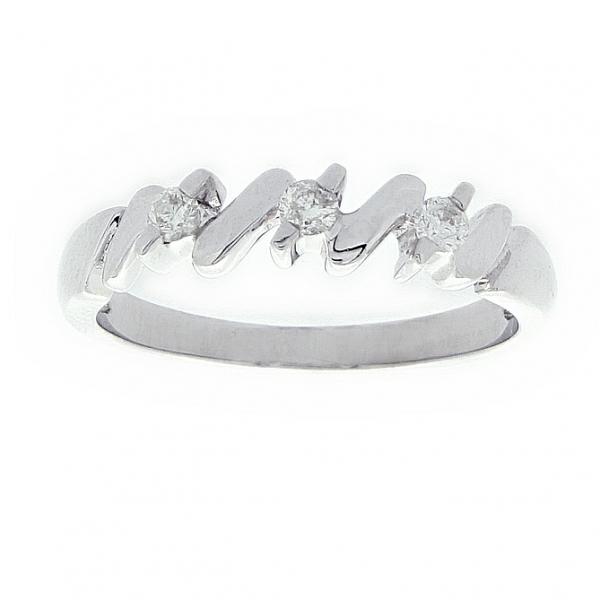 Ювелирное кольцо из белого золота 585 пробы с бриллиантами RD-6004w