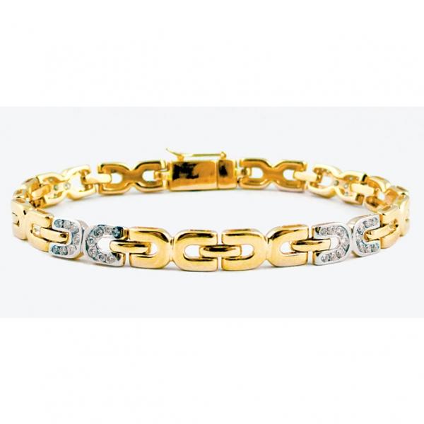 Ювелирный браслет из жёлтого золота 585 пробы с бриллиантами BC-6542/4y