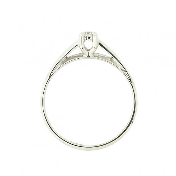 Ювелирное кольцо из белого золота 585 пробы с бриллиантом RD-6761w
