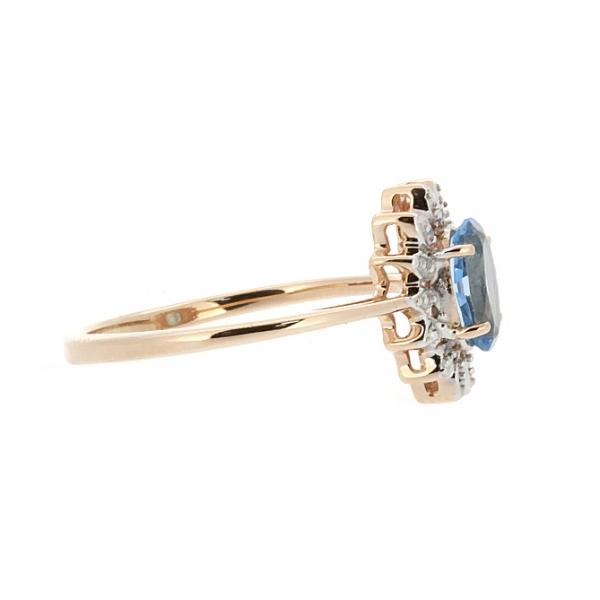Ювелирное кольцо из красного золота 585 пробы с топазом RT-6702