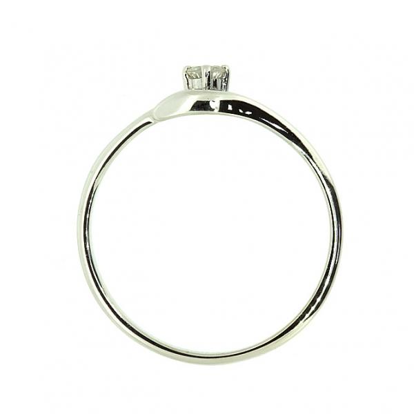 Ювелирное кольцо из белого золота 585 пробы с бриллиантом RD-5537w