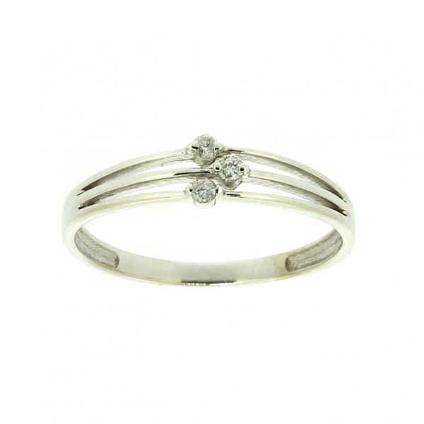 Ювелирное кольцо из белого золота 585 пробы с бриллиантами RD-6706w