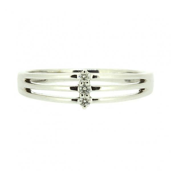Ювелирное кольцо из белого золота 585 пробы с бриллиантами RD-6719w
