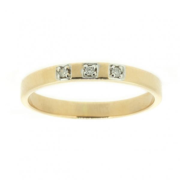 Ювелирное кольцо из красного золота 585 пробы с бриллиантами RD-6740