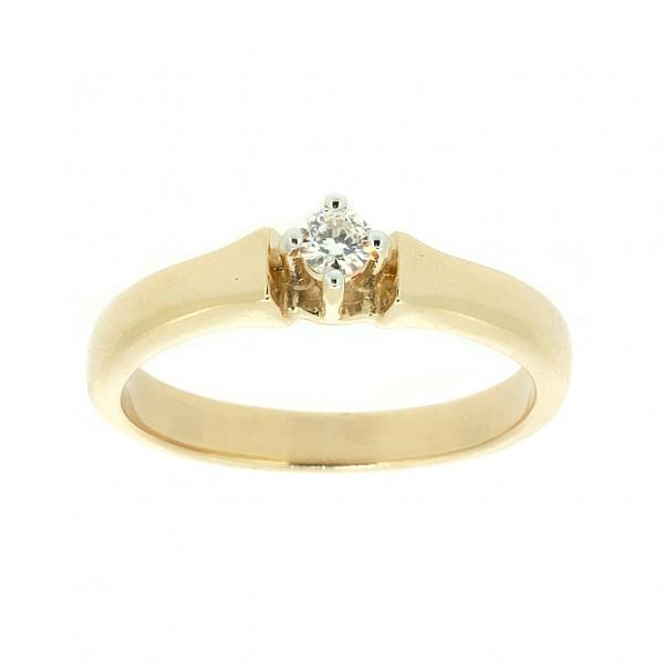 Ювелирное кольцо из красного золота 585 пробы с бриллиантом RD-6765