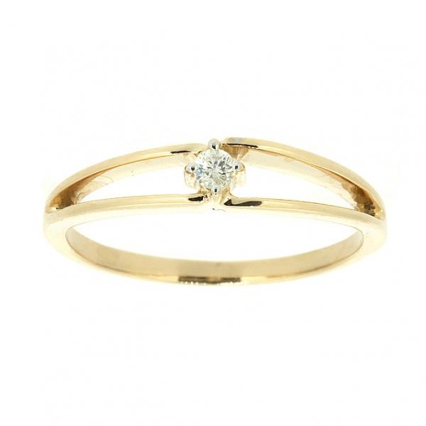 Ювелирное кольцо из красного золота 585 пробы с бриллиантом RD-6771
