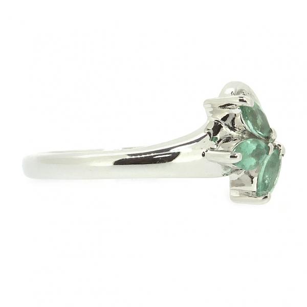 Ювелирное кольцо из белого золота 585 пробы с изумрудами и бриллиантами RE-9002w