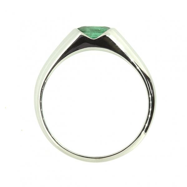 Ювелирное кольцо из белого золота 585 пробы с изумрудом RE-15790w