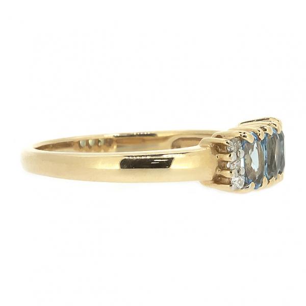 Ювелирное кольцо из красного золота 585 пробы с топазами и бриллиантами RT-10353