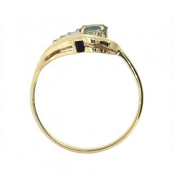 Ювелирное кольцо из красного золота 585 пробы с изумрудом и бриллиантами RE-6736
