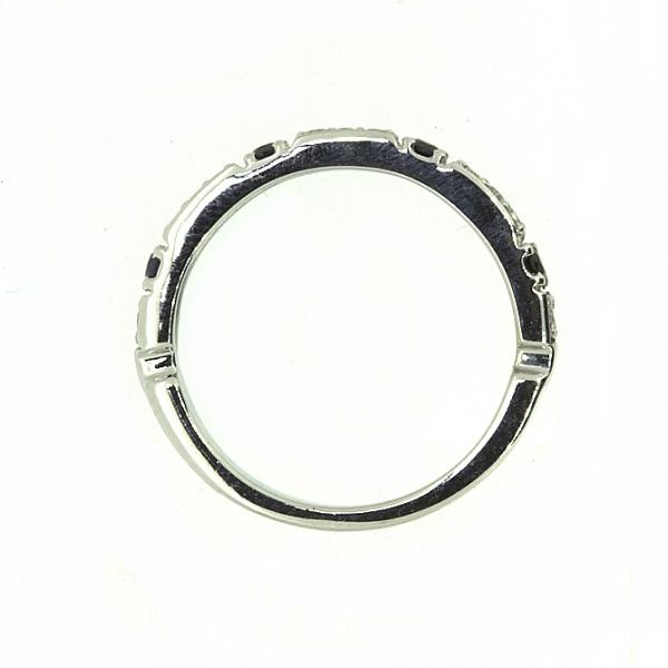 Ювелирное кольцо из белого золота 585 пробы с сапфирами и бриллиантами RDS-6738w