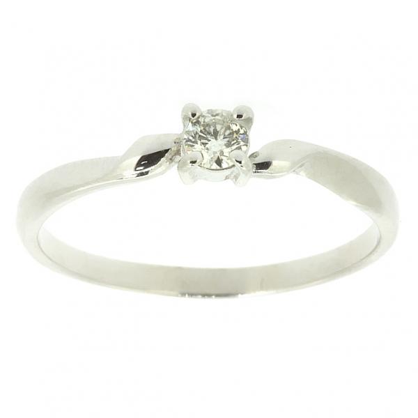 Ювелирное кольцо из белого золота 585 пробы с бриллиантом RD-6661w