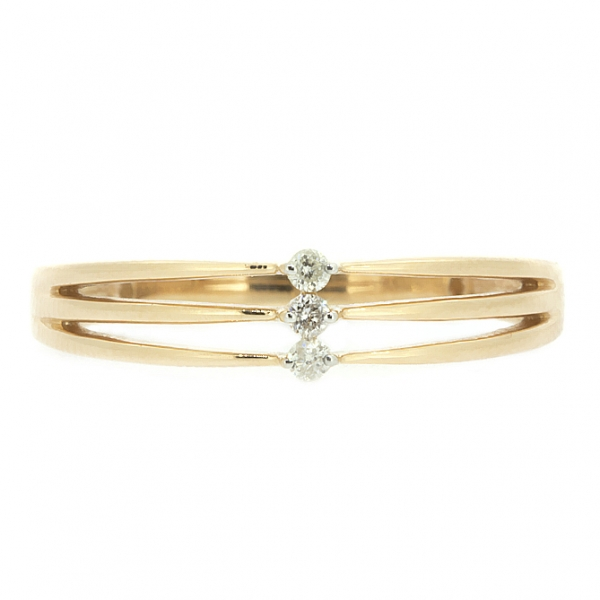 Ювелирное кольцо из красного золота 585 пробы с бриллиантами RD-6719