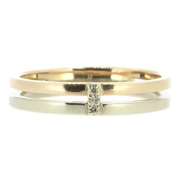 Ювелирное кольцо из красного и белого золота 585 пробы с бриллиантами RD-6725wr