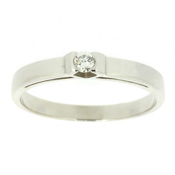 Ювелирное кольцо из белого золота 585 пробы с бриллиантом RD-6758w