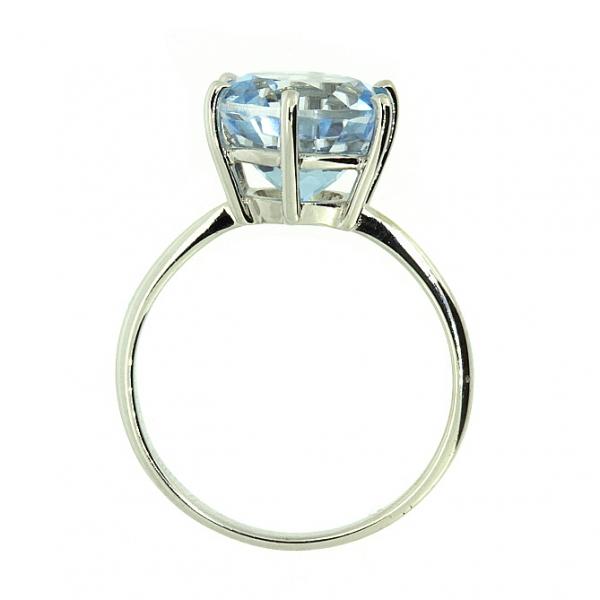 Ювелирное кольцо из белого золота 585 пробы с топазом RT-5531w