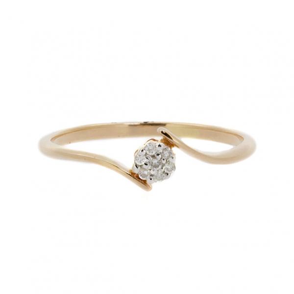 Ювелирное кольцо из красного золота 585 пробы с бриллиантами RD-6726