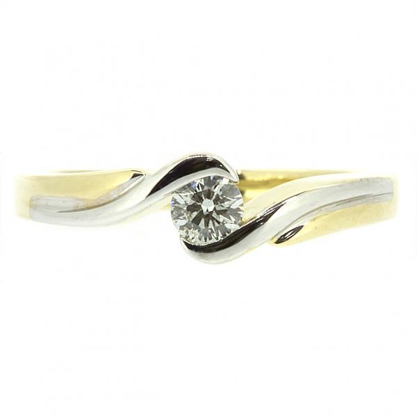 Ювелирное кольцо из жёлтого золота 585 пробы с бриллиантом RD-6273y