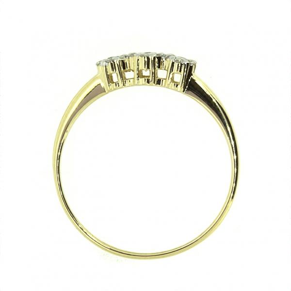 Ювелирное кольцо из жёлтого золота 585 пробы с бриллиантами RD-6713y