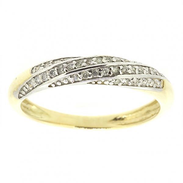 Ювелирное кольцо из жёлтого золота 585 пробы с бриллиантами RD-5529y