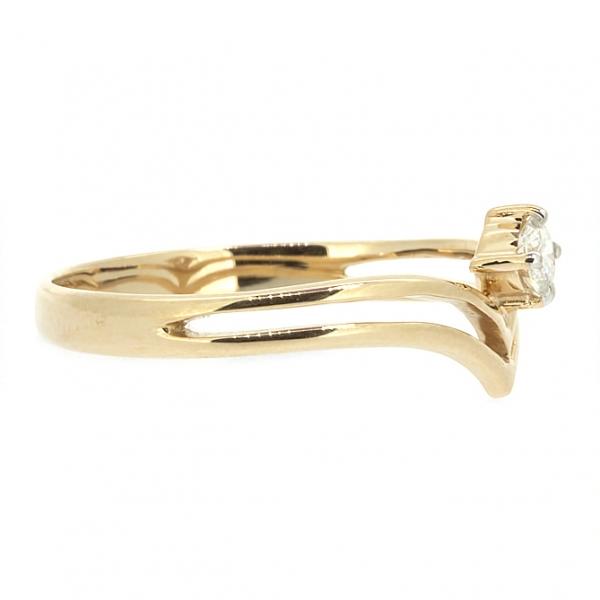 Ювелирное кольцо из красного золота 585 пробы с бриллиантом RD-6746