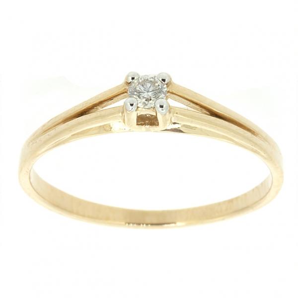 Ювелирное кольцо из красного золота 585 пробы с бриллиантом RD-6761