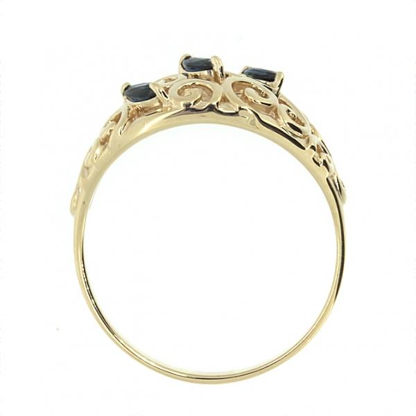 Ювелирное кольцо из красного золота 585 пробы с сапфирами RS-5522