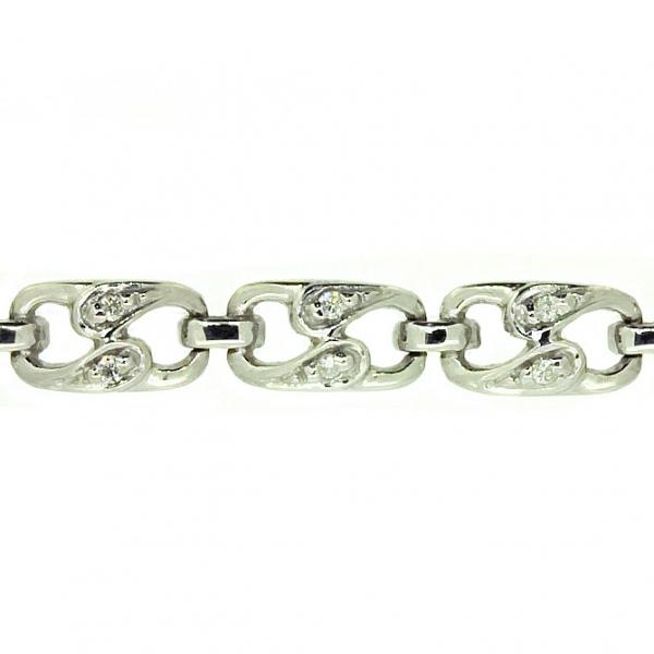 Ювелирный браслет из белого золота 585 пробы с бриллиантами BC-1001/21w