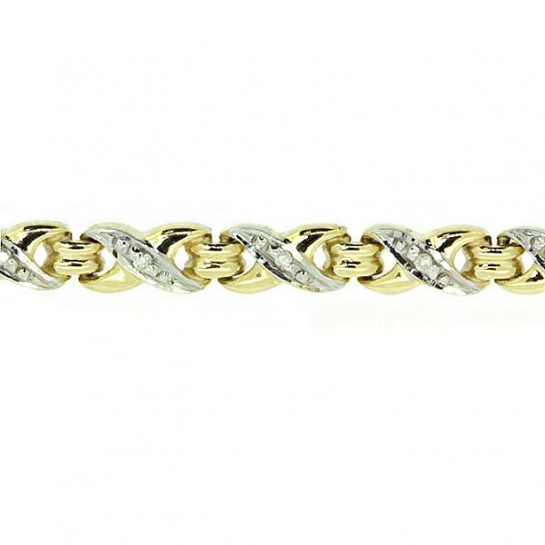 Ювелирный браслет из жёлтого золота 585 пробы с бриллиантами BC-1006/26y