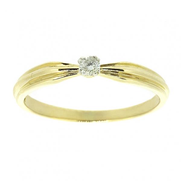 Ювелирное кольцо из жёлтого золота 585 пробы с бриллиантом RD-5520y
