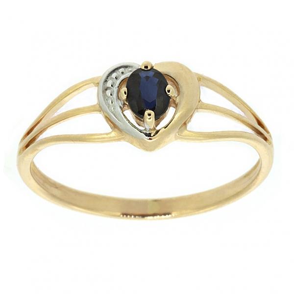 Ювелирное кольцо из красного золота 585 пробы с сапфиром RS-6056