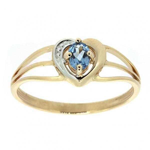 Ювелирное кольцо из красного золота 585 пробы с топазом RT-6056