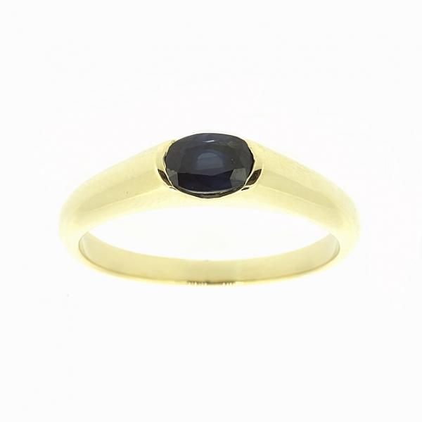 Ювелирное кольцо из жёлтого золота 585 пробы с сапфиром RS-15790y
