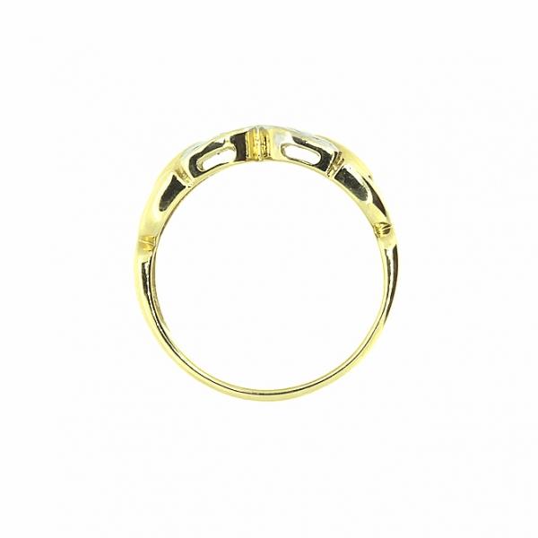 Ювелирное кольцо из жёлтого золота 585 пробы с бриллиантами RD-6540y